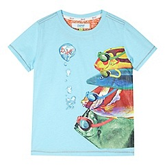 Baker by Ted Baker - Boy's light blue fish t-shirt