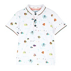 Baker by Ted Baker - Boy's white fishes polo shirt