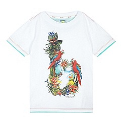Baker by Ted Baker - Boy's white tropical logo t-shirt