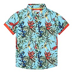 Baker by Ted Baker - Boy's blue Hawaiian print shirt