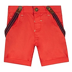 Baker by Ted Baker - Boy's red chino shorts with braces