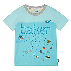 Baker by Ted Baker - Boy's blue sea life t-shirt