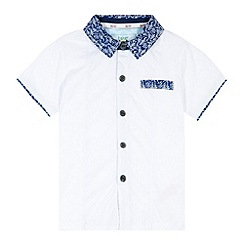 Baker by Ted Baker - Boy's white jersey woven shirt