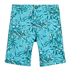 Baker by Ted Baker - Boy's turquoise leaf print shorts