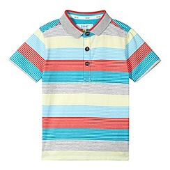 Baker by Ted Baker - Boy's grey multi striped polo shirt