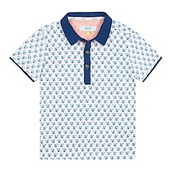 Baker by Ted Baker - Boy's aqua geometric crab print polo shirt