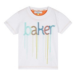 Baker by Ted Baker - Boy's white drip paint logo t-shirt