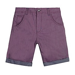 Baker by Ted Baker - Boy's purple textured woven shorts