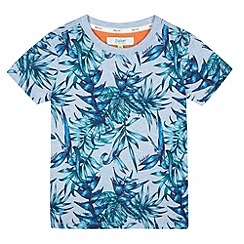 Baker by Ted Baker - Boy's blue leaf print t-shirt