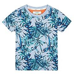 Baker by Ted Baker - Boy's blue leaf print t-shirt