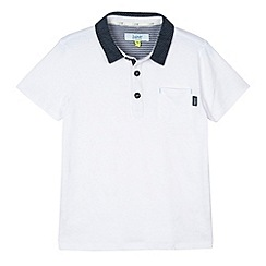 Baker by Ted Baker - Boy's white striped polo shirt