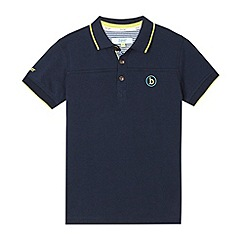 Baker by Ted Baker - Boy's navy tipped pique polo shirt