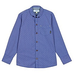 Baker by Ted Baker - Boy's blue stripe spotted shirt