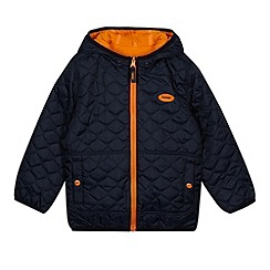 Baker by Ted Baker - Boy's navy reversible quilted jacket