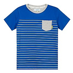 Baker by Ted Baker - Boy's blue striped chest pocket t-shirt