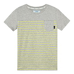 Baker by Ted Baker - Boy's grey striped one pocket t-shirt