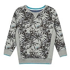 Baker by Ted Baker - Boy's grey tropical print sweater