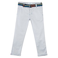 Baker by Ted Baker - Boy's grey belted chinos