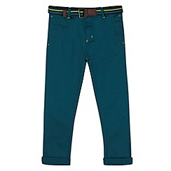 Baker by Ted Baker - Boy's dark turquoise belted chinos