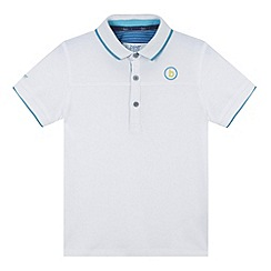 Baker by Ted Baker - Boy's white cut and sew pique polo shirt
