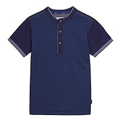 Baker by Ted Baker - Boy's navy spotted polo shirt