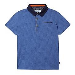Baker by Ted Baker - Boy's blue dotty polo shirt