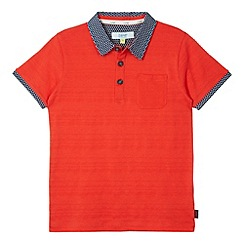 Baker by Ted Baker - Boy's red textured spotty collar polo shirt