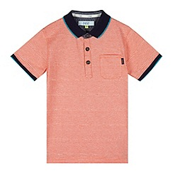 Baker by Ted Baker - Boy's orange jacquard polo top