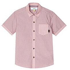 Baker by Ted Baker - Boy's red geometric spot shirt