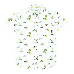 Baker by Ted Baker - Boy's white chameleon print shirt