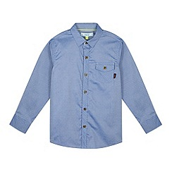Baker by Ted Baker - Boy's blue mini jacquard squares shirt