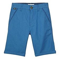 Baker by Ted Baker - Boy's blue birdseye long shorts