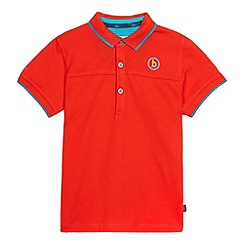 Baker by Ted Baker - Boy's red cut and sew pique polo shirt