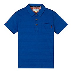 Baker by Ted Baker - Boy's blue textured stripe polo shirt