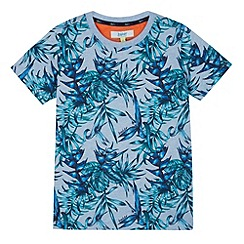Baker by Ted Baker - Boy's light blue Hawaiian t-shirt