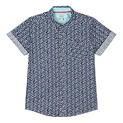 Baker by Ted Baker - Boy's navy petal print shirt