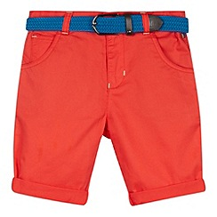 Baker by Ted Baker - Boy's red belted chino shorts