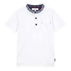 Baker by Ted Baker - Boy's white textured stripe t-shirt