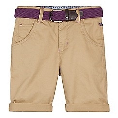 Baker by Ted Baker - Boy's natural belted chino shorts