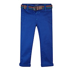 Baker by Ted Baker - Boy's navy belt chinos