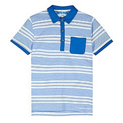 Baker by Ted Baker - Boy's light blue short sleeved jacquard polo shirt