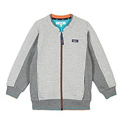 Baker by Ted Baker - Boy's grey quilted zip through jacket