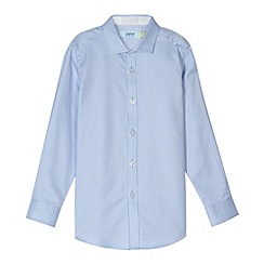 Baker by Ted Baker - Boy's blue diamond textured shirt