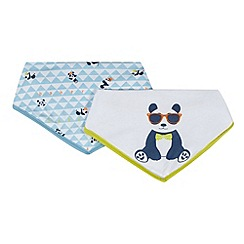 Baker by Ted Baker - Pack of two babies white panda printed dribble bibs