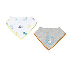 Baker by Ted Baker - Set of two babies white hippo print bibs