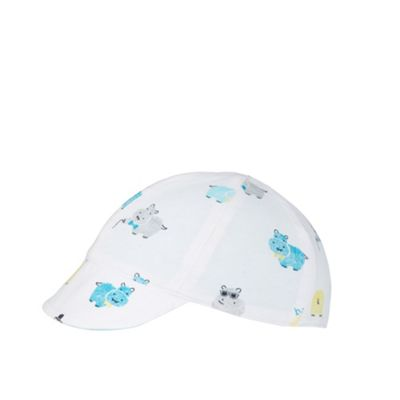 Baker by Ted Baker Babies blue reversible hippo print jersey cap - . -