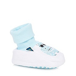 Baker by Ted Baker - Babies white padded hippo print booties