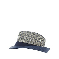 Baker by Ted Baker - Boy's blue straw trilby hat