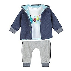 Baker by Ted Baker - Babies navy jacket, white top and jogging bottoms