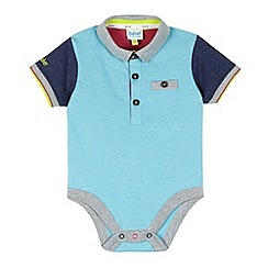 Baker by Ted Baker - Babies light blue polo bodysuit